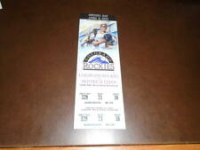 1993 COLORADO ROCKIES FIRST HOME OPENER GAME EVER FULL TICKET NR MINT