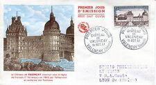 FRANCE FDC - 218 1128 3 CHATEAU DE VALENCAY 19 10 1957