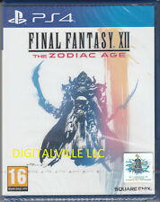 Final Fantasy Xii The Zodiac Age Ps4 Sony PlayStation 4 Brand New Factory Sealed