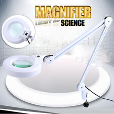 """5""""  Inch Magnifying Lamp 5 Diopter Table stand magnifier desk light White ZZ"""