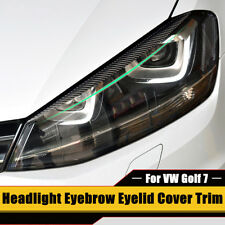 Headlight Eyebrow Eyelid Carbon Fiber Trim For VW Golf 7 GTI GTD R MK7 2013-2017
