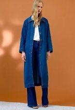 M.i.H. Denim Belted Raglan Coat Jacket XS