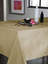 Nappe en tissu EFFET SOIE BEIGE dorée rectangulaire 150X300 cm