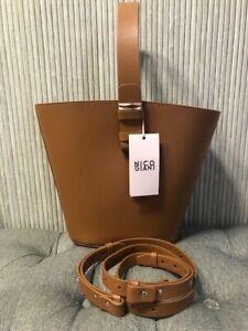Authentic New Nico Giani Nelia Large Leather Bucket Bag Brown