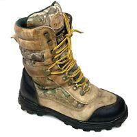 Trekker Mens Hunting Boots Camo Thinsulate Insulated Aquashield Sz 9.5 W Wide