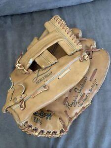 Vintage Rawlings KM8 Baseball Glove Reggie Jackson Model Made In USA RHT L Heel