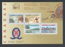 CANADA SOUVENIR SHEET SS 1407a CANADA 92 WORLD PHILATELIC YOUTH EXHIBITION