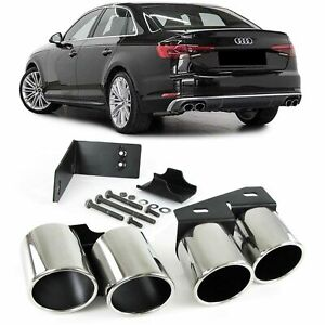 AUDI A4 B9 EXHAUST PIPE TRIMS TIPS SALOON & ESTATE 5/2015+ MODEL