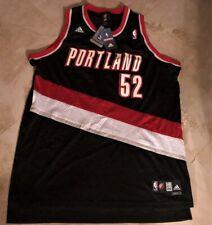 Greg Oden #52 Portland Trailblazers Swingman Throwback Jersey Black Adidas NBA