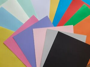 A4 160gsm Coloured Card  Art Craft - Individual & Mixed Pack - 25 or 40 Sheets
