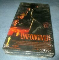 """Unforgiven"" VHS Tape Western Movie Clint Eastwood Morgan Freeman Gene Hackman"