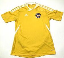 Adidas Banat Soccer Jersey Size Medium Yellow White Dry Fit Vneck Tee Phoenix AZ