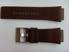 DIESEL Original Ersatzband Lederarmband DZ1132 Uhrband braun 24 mm