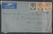 NORTHERN RHODESIA COVER (PP1211B) 1948 KGVI 6D+1 1/2DX2 ELEPHANT COVER TO UK