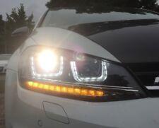 VW Golf 7 LED Tagfahrlicht Scheinwerfer schwarz U-DRL LED Blinker LAUFBLINKER