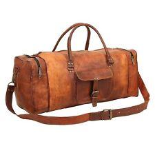 Sporttasche Vintage Leder Reisetasche Weekender Handgepäck Retro Style 60cm