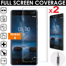 2x FULL SCREEN Face Curved fit TPU Screen Protector Cover Guards for Nokia 8