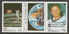 Cinderella 6389 - 1971 GB POSTAL STRIKE - APOLLO STRIP OF 3  u/m