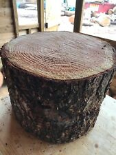 "Large 14"" Rustic Log Stump/trunk Ideal Garden Stool or Feature, Woodland Wedding"