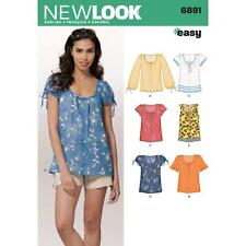 NEW LOOK SEWING PATTERN Misses Easy Pullover Tops SIZE 10 - 22 6891