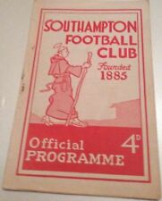 First Division Southampton Teams S-Z Football Programmes