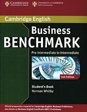 Cambridge BUSINESS BENCHMARK Pre-intermediate BEC STUDENT's BOOK 2nd Ed @New@