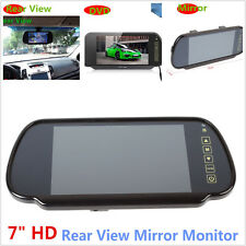 "Car Rearview mirror monitor 7"" TFT LCD Rear view Backup Color Monitor Screen DVD"