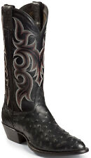Nocona Full Quill Ostrich Boots MD8501, Black,Sz. 9.5EE, New in Box, Made in USA