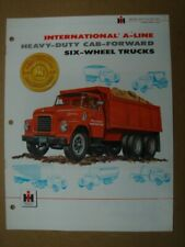 INTERNATIONAL  A-Line  Medium and Heavy duty six-wheeler trucks brochure  1957.
