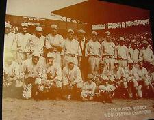 VINTAGE 1918 BOSTON RED SOX SEPIA Team PHOTO Baseball Babe Ruth world series US