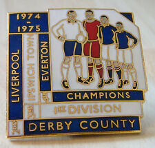 More details for 1975 ipswich town 1st division third place badge number 7 of 25 38mm x 38mm