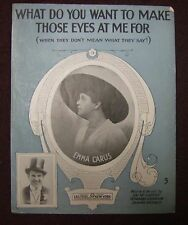 Sheet Music  -What Do You Want To Make Those Eye At Me For .. 1916