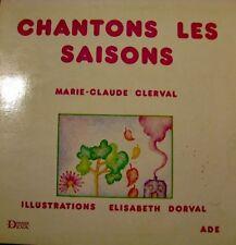 MARIE-CLAUDE CLERVAL chantons les saisons LP33T RARE++