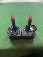 Lot Of 2 PointMaster Atari 2600 Game Joystick Controllers, Tested
