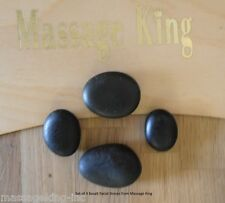 4 pc Facial Stones for Hot Stone Spa or Massage, Genuine Basalt, Free Shipping