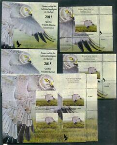 Weeda Quebec QW28/a/A VF 2015 Wildlife Habitat Conservation stamps CV $105