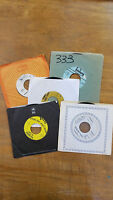 Vintage Lot of 45's - Vinyl Records for Crafts - Lot of 5 Records with Sleeves 5