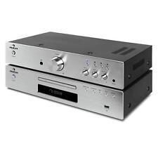 auna Elegance Tower 2.0 Set ampli HiFi stereo + lecteur CD MP3 USB 40 stations