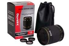 Opteka 500mm f/8 Teleobiettivo Lente a Specchio per Canon EOS 1d, 5d, 6d, 7d, 10d, 20d,