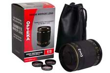 Opteka 500mm f/8 Telephoto Mirror Lens for Canon EOS 1D, 5D, 6D, 7D, 10D, 20D,