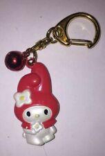 Hello Kitty Sanrio Red Hat Bell Japan Charm Clip Shoe Backpack Key Ring Chain Kj