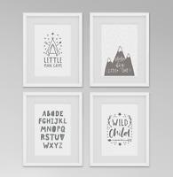 Little Man Cave / Dream Big Little One / Alphabet / Boys Bedroom Prints - Set 4