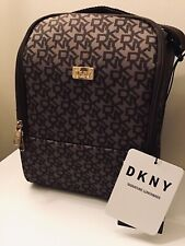DKNY SIGNATURE THERMAL LUNCH TOTE BAG ~ BROWN w/SPORTS BOTTLE POUCH BNWT RRP:£60