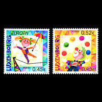 Luxembourg 2002 - Europa 2002 Circus - Sc 1091/2 MNH