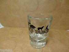 "Lake Tahoe 2 7/8"" Whiskey Shot Glass, Bear Elk Wolf & Eagle Pattern (Used/EUC)"