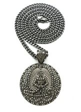 """NEW 2PAC EUPHANASIA PENDANT WITH 6mm 36"""" CUBAN CHAIN"""