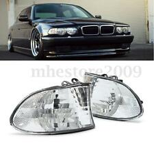 Pair Corner Signal Lights - Clear For 99-01 BMW E38 7-SERIES 740i 740iL 750iL