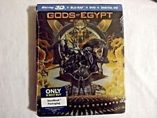 Gods of Egypt 3D SteelBook NEW Sealed 2D Blu-ray + DVD + Digital UV Ultraviolet