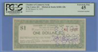 1933 $1.00 Chamber of Commerce Scrip, Clay Center, KS PCGS Extremely Fine 45