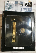 Benrus Solid Brass TIE TACK & TIE BAR  PERFECT Gift Set